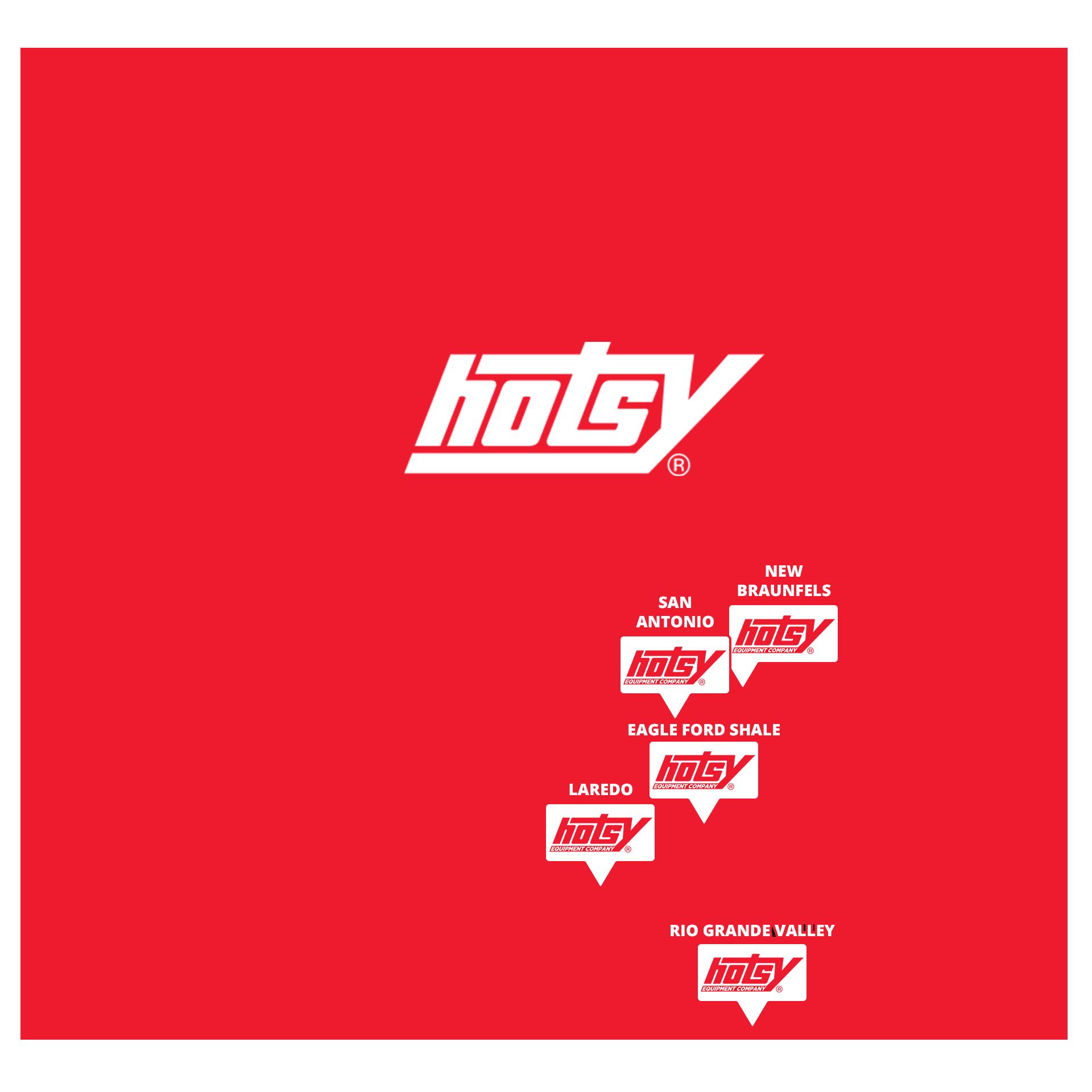 Texas Service Map | Hotsy Equipment Company